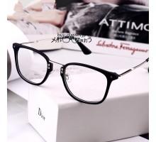 おしゃれクラシック風メガネフレーム男女度なしレンズ伊達眼鏡度いりレンズ対応コーデ用大きいフレーム韓国メガネ