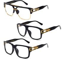 欧米メタル金属 ロックンロールhip-hopヒップホップ度なし伊達メガネ コーデ用眼鏡フレーム度付きレンズ対応ストリート古典風ダテメガネ