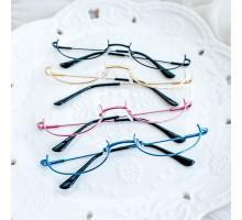 アンダーリム メガネフレームcosplay日常眼鏡コスプレ逆ナイロール萌えガール下ふちメガネお姉さんめがね下縁メガネ自撮りオーバル型レディース金属メタル製逆フレーム メガネレンズなし無し