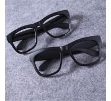 太いフレーム伊達メガネレンズなしお洒落クラシック品質ブラック眼鏡フレーム軽い