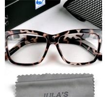 メガネフレームレンズ無し度なしダテメガネ女性ガール向け豹紋ファッション伊達メガネレンズあり