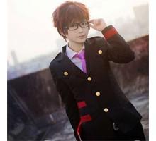 万能cosplayアクセサリー小道具野良神cos兆麻 毘沙门 ブラック黒いメガネ眼鏡フレーム