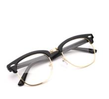 ダテメガネ正規品オシャレ男性女性ナイロール度なしレンズサーモントデザイン伊達眼鏡フレームめがね
