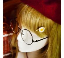 jk制服メタル製丸型ラウンドメガネ女子萌えcosクラシック原宿系腐川冬子 (ふかわとうこ)金属フレーム眼鏡チェーン付き