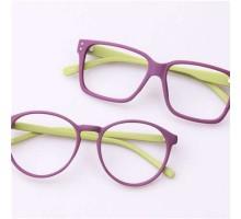 オシャレ伊達メガネフレーム-レンズなし男子女子ファッション色合わせ眼鏡フレーム-ラウンドとウェリントン型