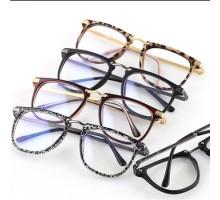 男女ファッション御洒落度なし伊達メガネ大きいスクエア型ウェリントン伊達眼鏡ブルーライトカット