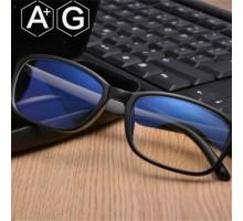 ブルーライトカット眼鏡男女パソコンPC目保護度無しメガネ疲労対策シンプル軽量快適