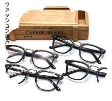 1位獲得★正規品ファッションレンズあり眼鏡フレーム男女文芸風クラシックダテメガネ大きいフレーム度なしブラック伊達メガネ