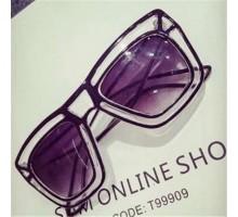個性的2Dデザイン芸能人愛用大きいフレーム透明フレーム眼鏡女子サングラスお洒落ファッションメガネ