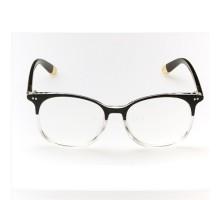 オシャレ超軽量ファッション大人気ダテメガネレンズあり度無しブラック豹紋クラーデション色フレーム伊達メガネ