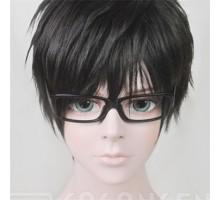 cosplayアクセサリー小道具ブラック黒い-スクエア-フルリム眼鏡「メガネブ!」相馬鏡・木全隼人メガネ